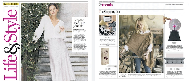 Lacorine Emperatriz Pleated Shawl featured in the Yorkshire Post